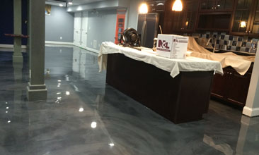 metallic epoxy floor Kansas