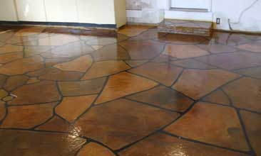 Concrete Stamping Garage Flooring
