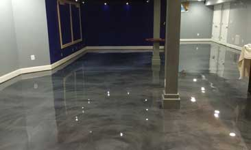 marble epoxy basement floor
