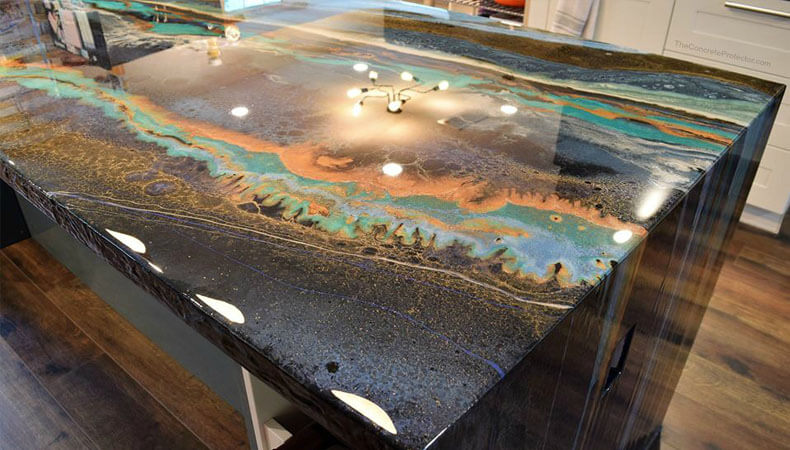 Metallic Epoxy Countertops