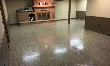 epoxy floor covering for basement